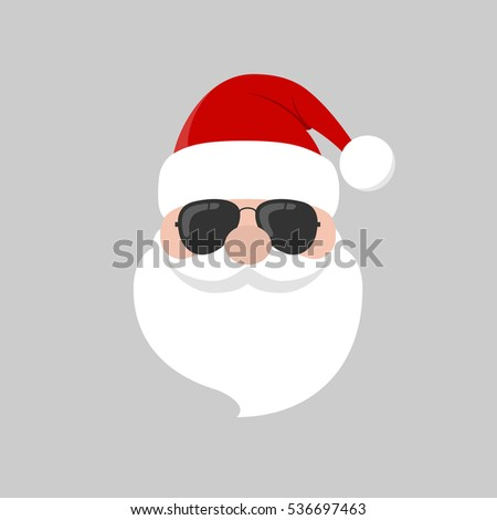 hipster santa claus with cool
