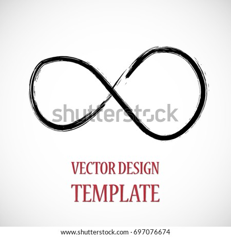 Hipster Sign. Grunge Infinity Symbol. Distressed Paint Brush, vector design.