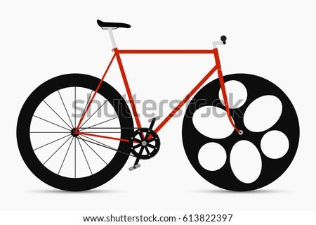 hipster single speed bike in