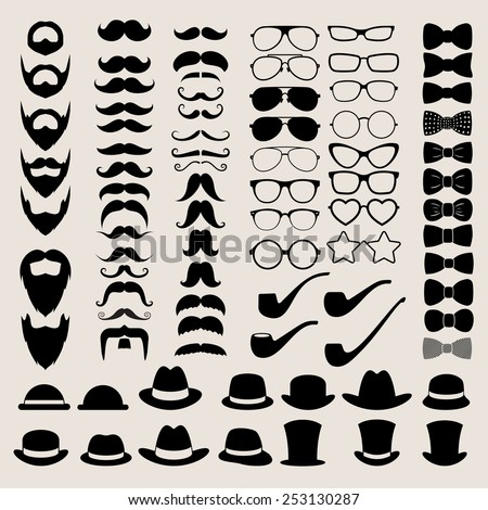 Hipster style infographics elements and icons set for retro design. Illustration eps10