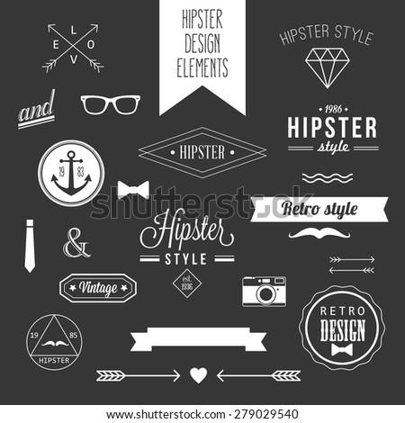 hipster style vintage design
