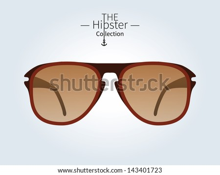 hipster sunglasses  hipster man