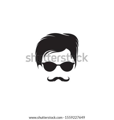 Hipster symbol logo design vector image