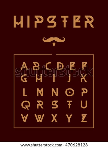 Hipster typeface poster.