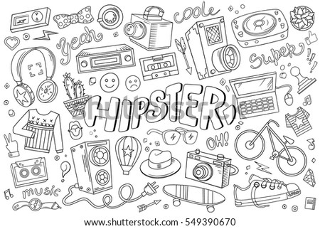 hipster vector abstract