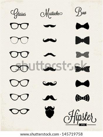 hipster vector design set