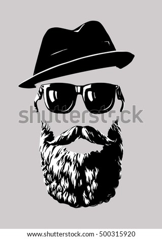 hipster with sunglasses and a...