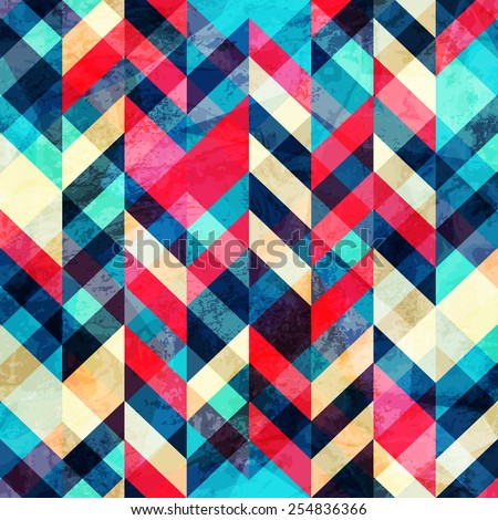 hipster zigzag seamless pattern