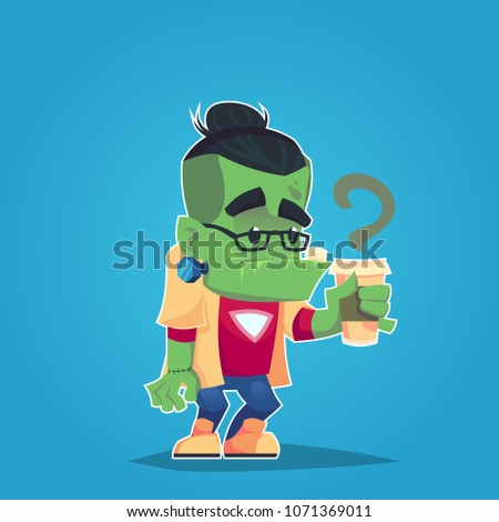 hipster zombie undead with