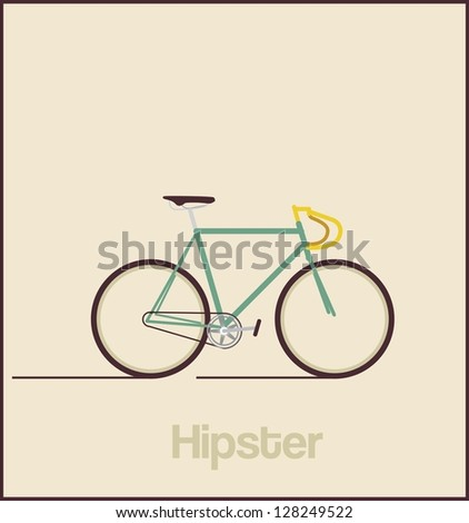 Hipsters bicycle - stock vector