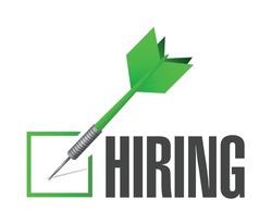 hiring check dart illustration design over a white background