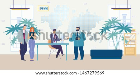 Hiring Company Employees, Searching for Career in Successful Company Flat Vector Concept. Boss Conducting Interview with Job Applicants, Vacancy Applicants Waiting for HR Manager Colloquy Illustration