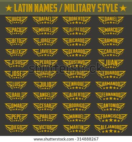 hispanic popular names  set of