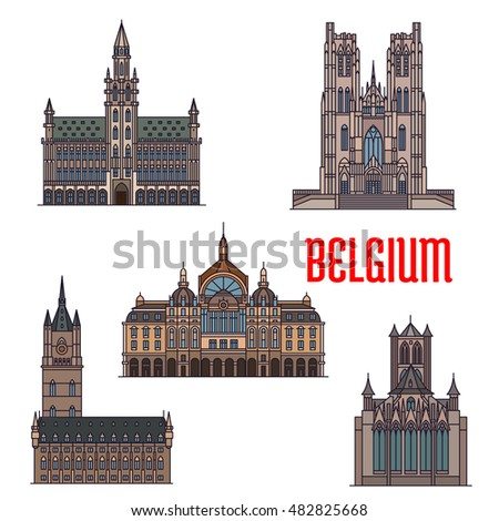 historic buildings of belgium