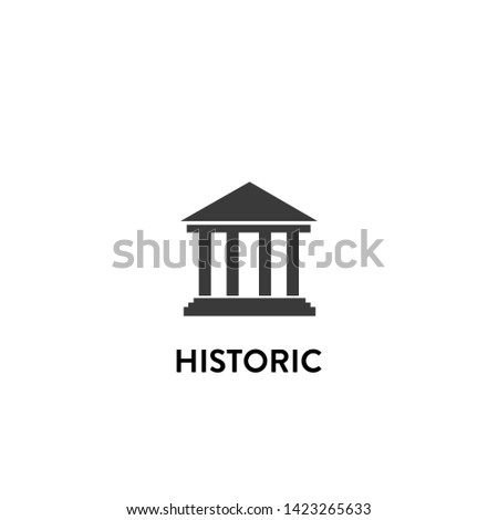 historic icon vector. historic vector graphic illustration