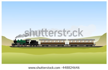 historic old steam locomotive