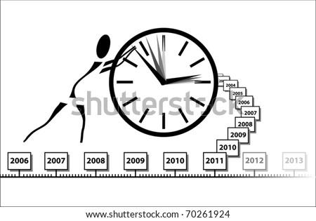 History - stock vector
