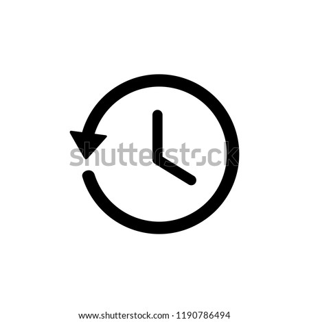 History icon, History line icon. symbol for web site Computer and mobile vector.