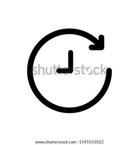 History icon,vector illustration. Flat design style. vector history icon illustration isolated on White background, history icon Eps10. history icons graphic design vector symbols.