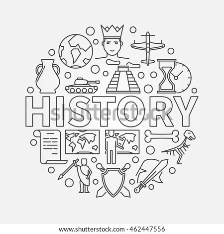 history linear illustration