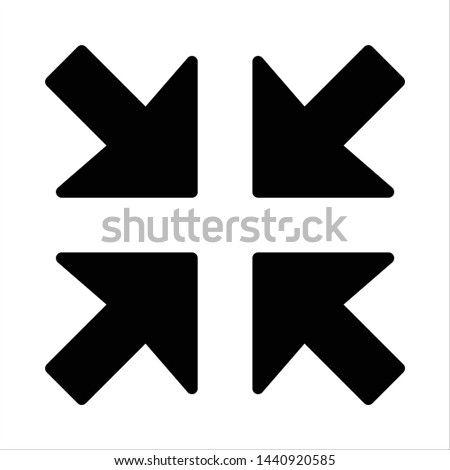 Hit central objective - Minimal icon - Vector