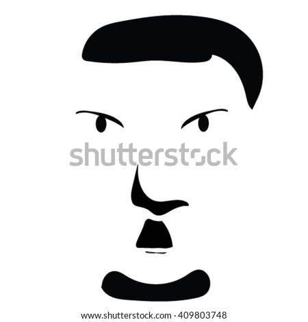 hitler graphic angry mustaches