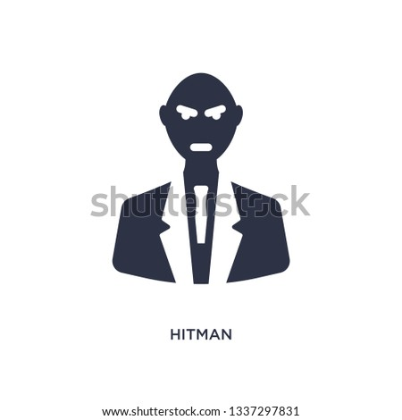 hitman isolated icon simple