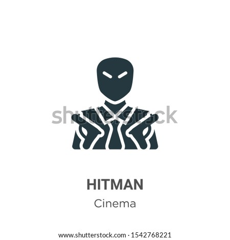 hitman vector icon on white