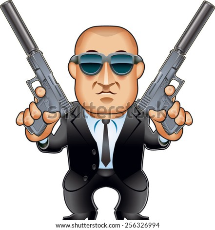 hitman with silenced pistols