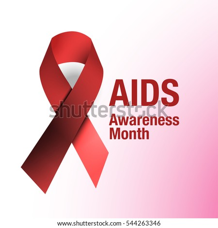 HIV/AIDS awareness or Substance-abuse awareness Red Ribbon Background.