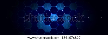 hive icon. From Mad Science set in the technological comb background Сток-фото ©