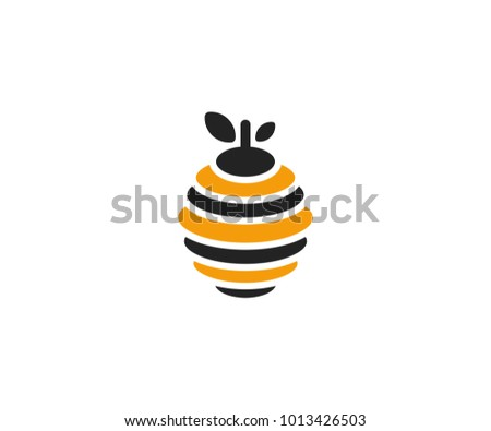Hive logo template. Beehive vector design. Bee nest illustration