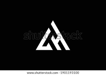 HL letter logo design on luxury background. LH monogram initials letter logo concept. HL icon design. LH elegant and Professional white color letter icon on black background. Stock fotó ©