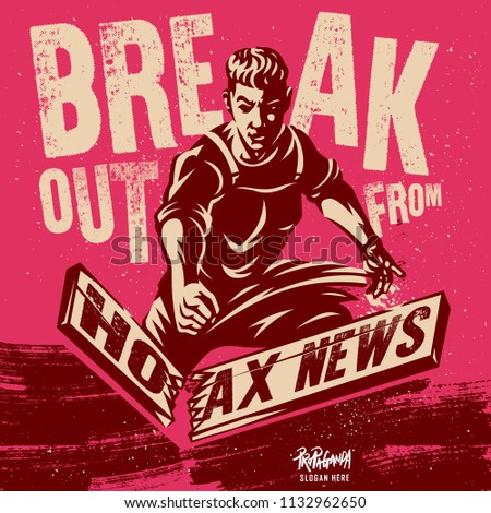 Hoax News Illustration. Motivational Quote Vector Poster Design