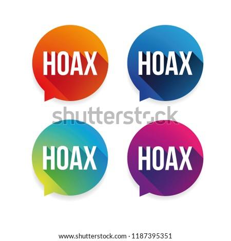 Hoax warning label set