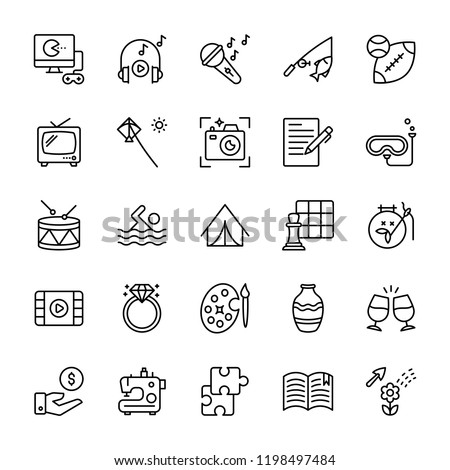 Hobbies and Interests icons
