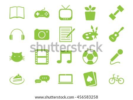 Hobbies icons set Vol.1