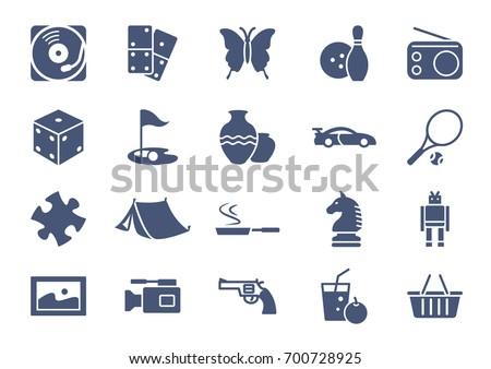 Hobbies Icons Set Vol.2