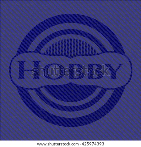 Hobby badge with jean texture