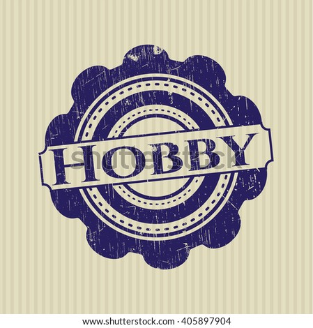 Hobby rubber stamp