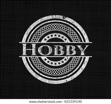 Hobby written on a chalkboard