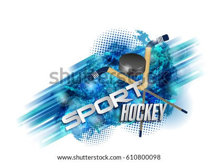 hockey  crossed hockey sticks