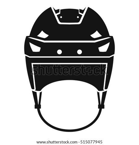Hockey helmet icon. Simple illustration of hockey helmet vector icon for web