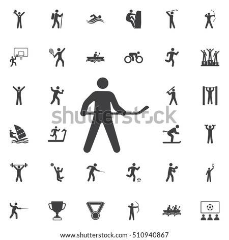 Hockey icon Vector Illustration on the white background. Sport icons universal set for web and mobile