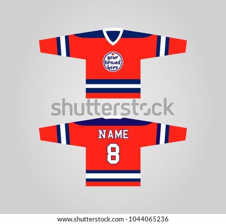 hockey jersey design template