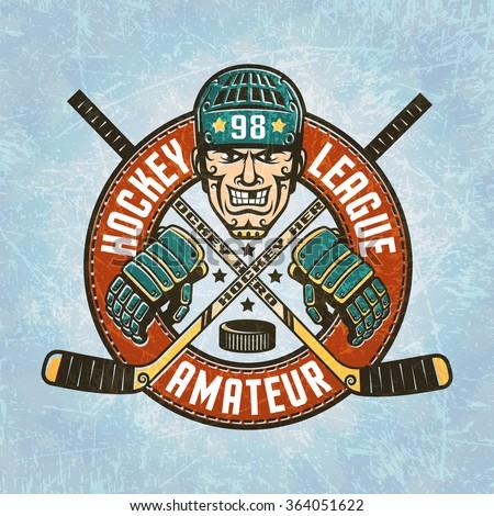 hockey logo   a head of the