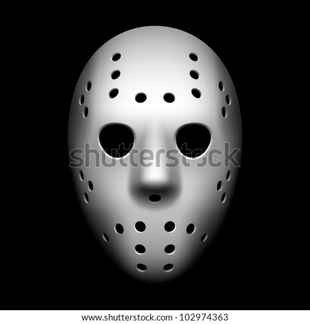 Hockey mask. Vector.
