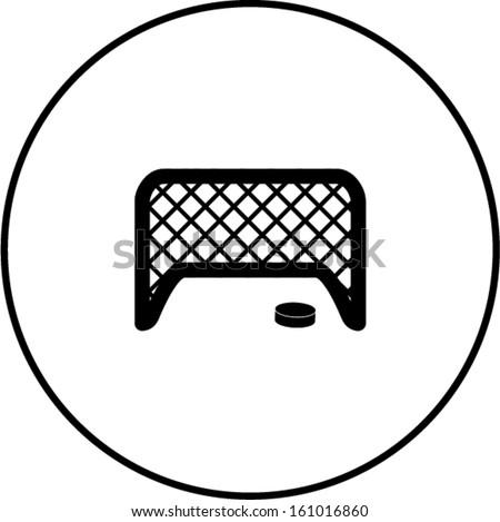 hockey puck and net
