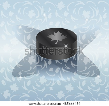 hockey puck with shadow on