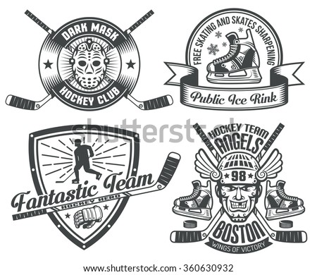 hockey tattoos and logos with